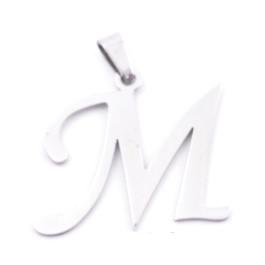 Inicial - Letra M- Colgante Acero inoxidable 3 cm