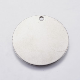 Chapa acero inoxidable redonda 30 mm, int 2 mm ( grabar)