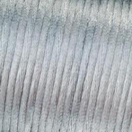 Bobina 50 metros cordon de saten 1.5 mm- Color plata