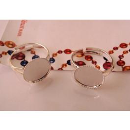 30fb2b689 Base anillo plateado 18 mm y base relieve 13 mm (alta calidad)