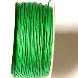 Cordon algodon verde  1 mm  ( 1 metro)