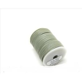 Cordon cuero color gris 2 mm (1 metro)