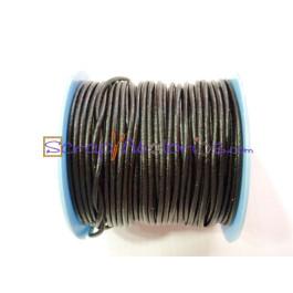 Cuero nacional alta calidad 2 mm color negro (1 metro)
