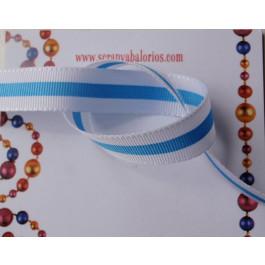 1d4917f59f2d Cinta lazo bandera blanco-azul ancho 12 mm ( 1 metro)