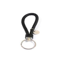 Llavero simil cuero  14.2 cm Color  negro (incluye chapa grabable)