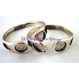 22c64688d820 Pulsera de Zamak muelle modelo brazalete ( baño de plata)