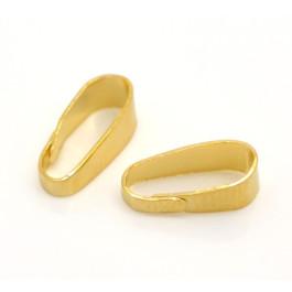 Fornitura metalica enganche dorado 11x4 mm ( 10 uds)