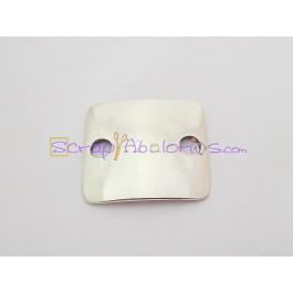Entrepieza Zamak baño plata lisa (ideal para grabar) 29X27mm