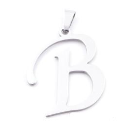 Inicial - Letra B- Colgante Acero inoxidable 3 cm