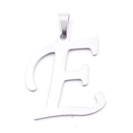 Inicial - Letra E- Colgante Acero inoxidable 3 cm