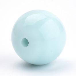 Bola acrilica azul pastel 6 mm, int 1.5 mm - 100 uds