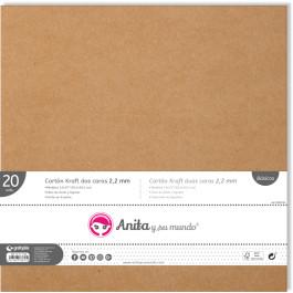 Carton KRAFT encuadernar- Grosor 2.2 mm- 30 x 30 cm