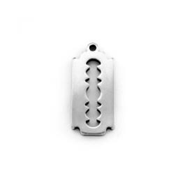 Cuchilla afeitar colgante acero inoxidable 18x8 mm, int 1 mm