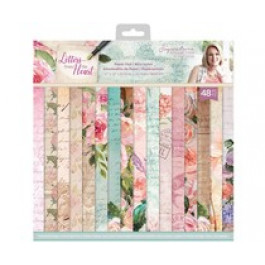 Letter from the Heart- Lote Papel Scrapbooking 30x30 cm - 48 papeles a doble cara