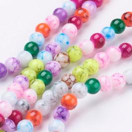 Hilera bolas de cristal pintado  6 mm - 74 pcs mix