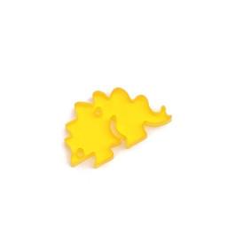 Plexy figuras dinosaurios - Estegosaurio naranja 22x13 mm