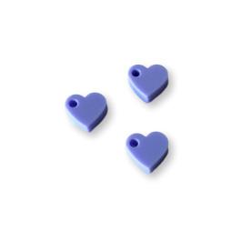 Colgante mini corazon de plexy lila pastel 7 mm - 1 unidad