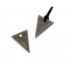 Colgante ZAMAK baño plata triangulo 20x15 mm