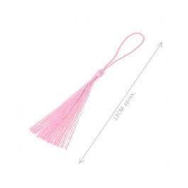 Pompon borla de hilo largo 12 cm COLOR ROSA BEBE