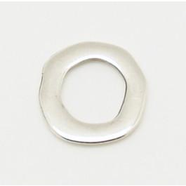 Entrepieza Zamak baño plata aro irregular 20 mm, int 12 mm