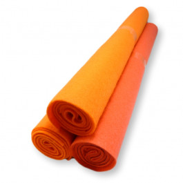 Rollo fieltro NARANJA 80x40 cm grosor 1.5mm