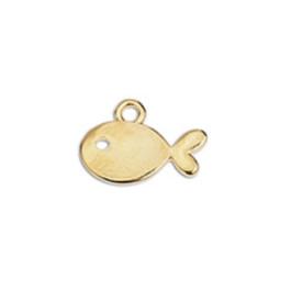 Colgante ZAMAK baño dorado pez mini 14 mm