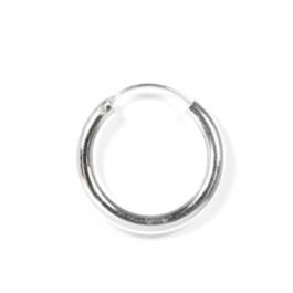 Pendientes plata de ley - Aro 3 mm grosor liso 20 mm- 1 par