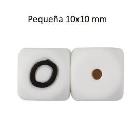 Cubo letra silicona 10x10 mm- Premium - Letra O