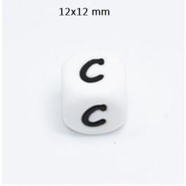 Cubo letra silicona 12x12 mm- Premium - Letra C