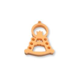 Plexy naranja pastel - Colgante y entrepieza Virgen del Rocio 25x17 mm