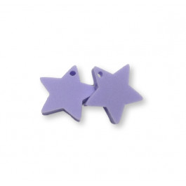 Plexy lila pastel - Colgante estrella 15 mm, int 1.2 mm