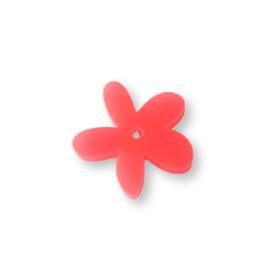 Plexy rosa neon - Colgante margarita  25 mm, int 1.2 mm