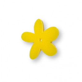 Plexy amarillo limon - Colgante margarita  25 mm, int 1.2 mm