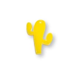 Plexy amarillo limon - Colgante cactus 23 mm, int 1.2 mm