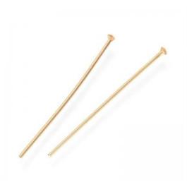 Baston aguja Acero inox cabeza dorado 40x1 mm (25 uds)