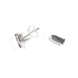 Pendientes plata de ley -  Balas 9 mm
