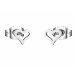Corazoncito 5 mm - Pendientes acero inoxidable plateado 1 par