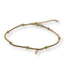 Rayo dorado - Tobillera cadena snake Acero Inoxidable 23 cm + 5 cm extendedora
