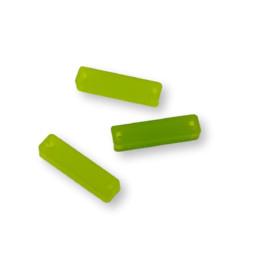 Plexy verde lima - Rectangulo palito entrepieza 20x5 mm ( ideal tallos)
