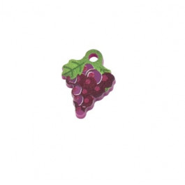 Racimo de uva - Colgante de plexy 16x12 mm