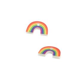 Arcoiris - Colgante de plexy 13x8 mm