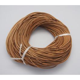 Cordon cuero natural  1 mm ( 1 metro)