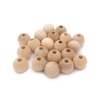 Bolsita 20 bolitas de madera antibaba 10 mm -  Sin lacar 00