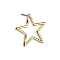 Pendiente Zamak dorado estrella 18.3 mm - 1 par  ( con traseras silicona)
