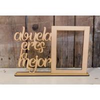 Marco de madera - Abuela eres la mejor 28x19 cm