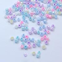 Rocalla cristal 6/0, 4 mm color MULTICOLOR PASTEL  2 (20 gramos)