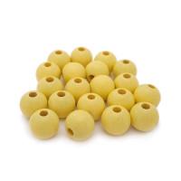 Bolsita 20 bolitas de madera antibaba 10 mm - Color Amarillo pastel 10
