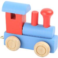 Articulo bebe - Tren de Letras - Locomotora rojo-azul 6x3x5.5 cm