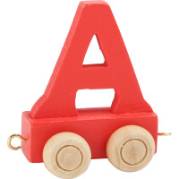 Articulo bebe - Tren de Letras - Letra A roja - 5x3.5x6 cm