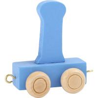 Articulo bebe - Tren de Letras - Letra I azul- 5x3.5x6 cm